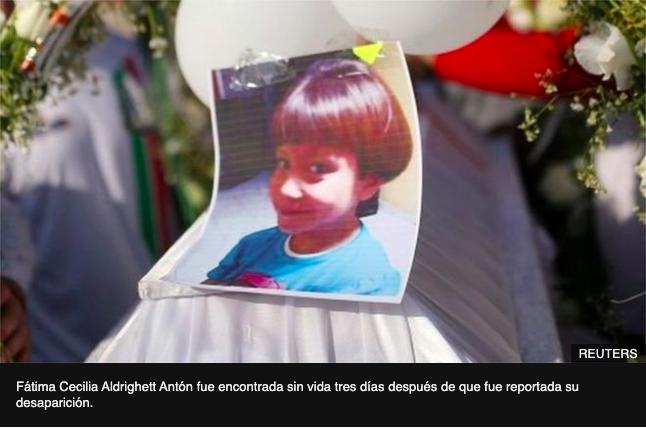 Caso Fátima: lo que se sabe del asesinato y tortura de la niña de 7 años cuyo caso conmociona a México